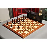The Library Grandmaster Chess Set, Box, and Board Combination