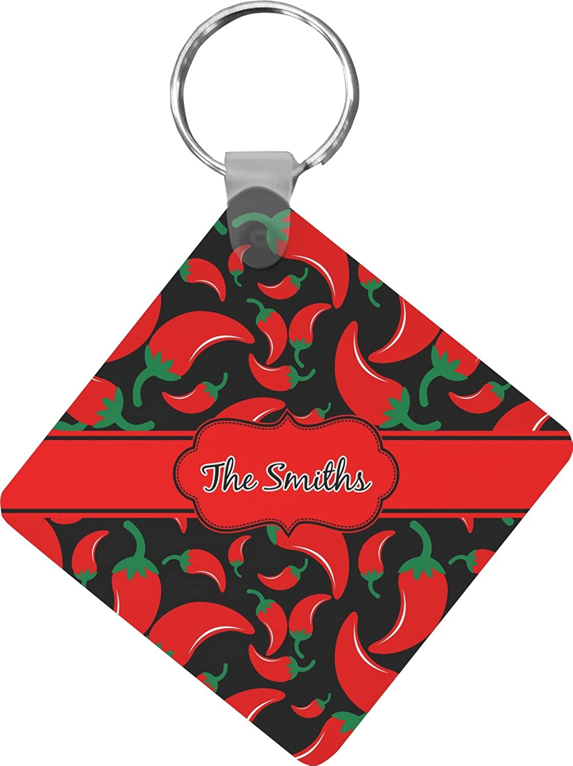 Chili Peppers Diamond Key Chain (Personalized)