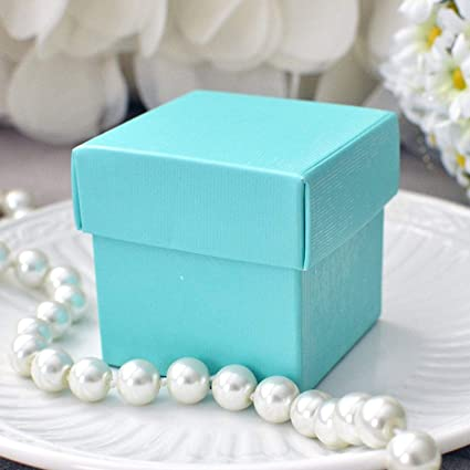 mini square 2x2x2 wedding bridal shower favor box with lid 10 count robin