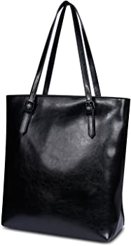Kattee Cow Leather Simple Style Tote Shoulder Bag