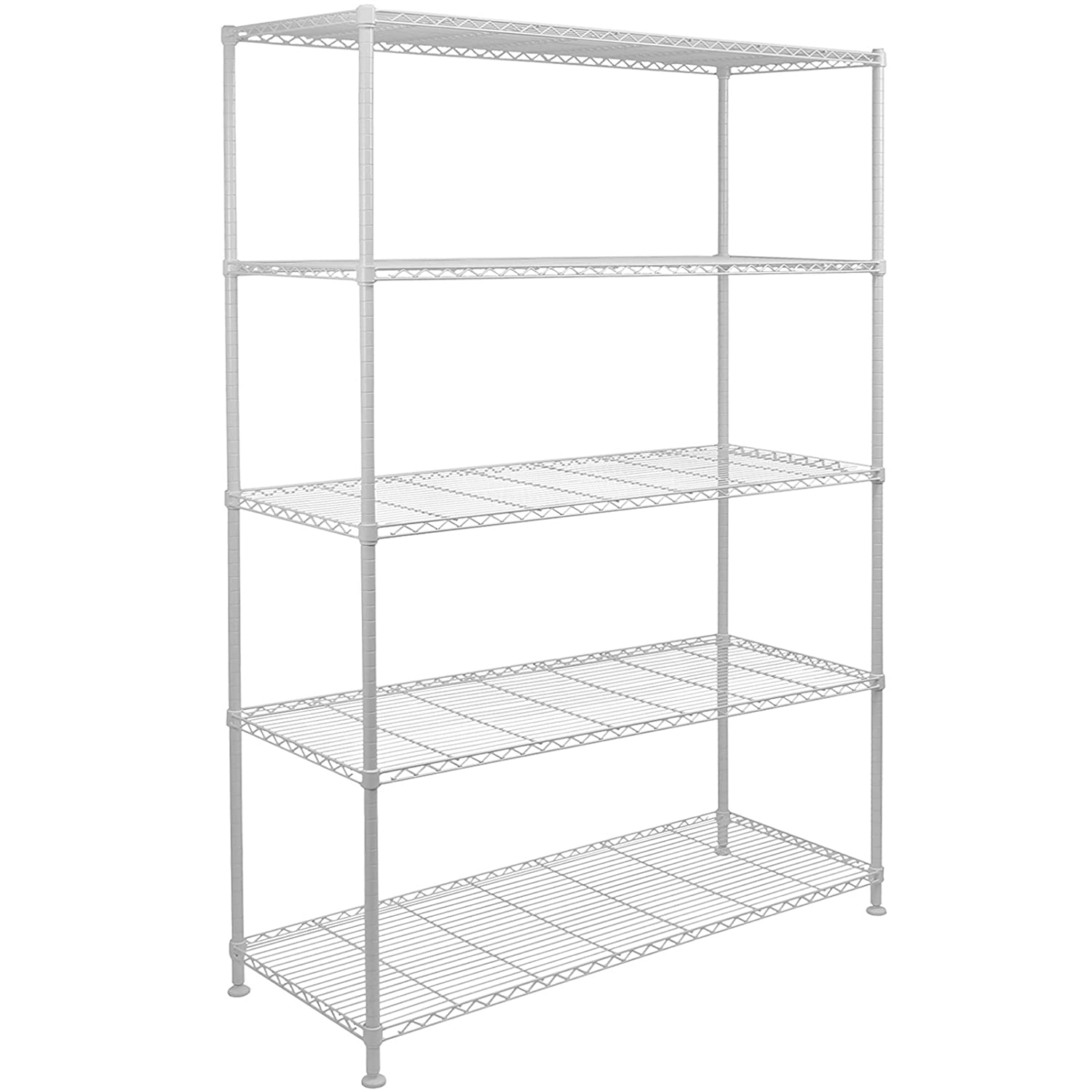 Hartleys 180cm 5 Tier Adjustable Wire Shelving Unit - Choice of Colour
