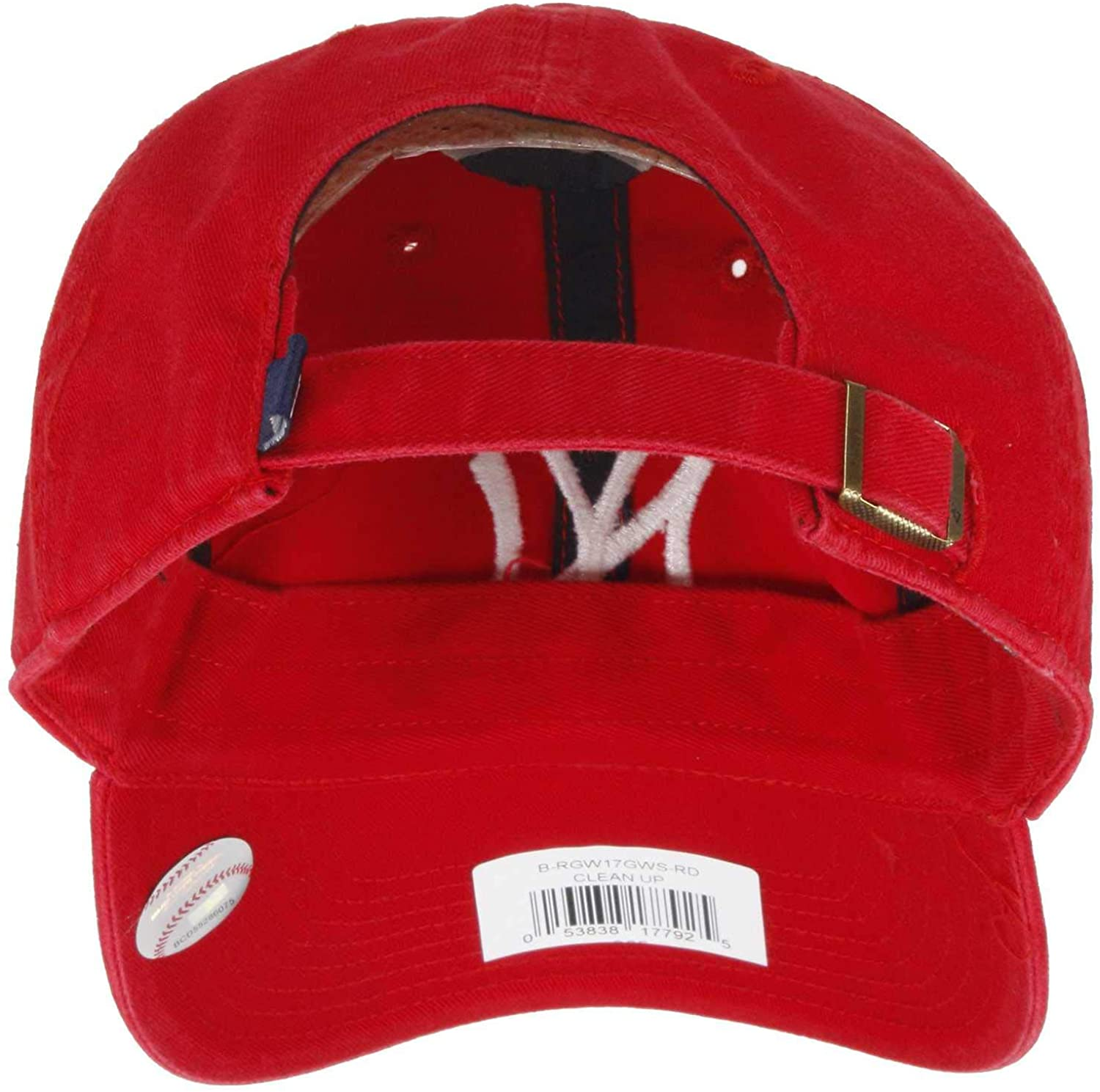 MLB New York Yankees Men's '47 Brand Clean Up Cap, Red, One-Size : Sports Fan Baseball Caps : Clothing