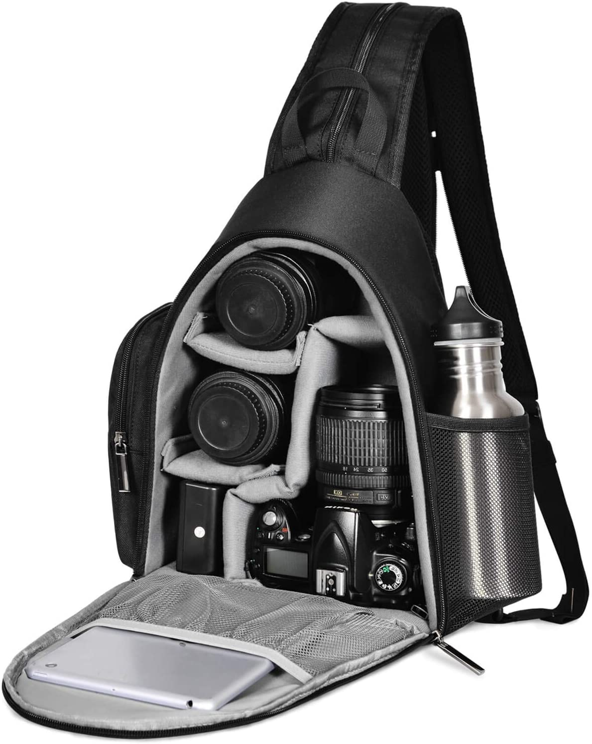 CADEN Camera Sling Bag, SLR DSLR Camera Backpack with Tripod Holder for Mirrorless Cameras and Lenses(Nikon Canon Sony etc)