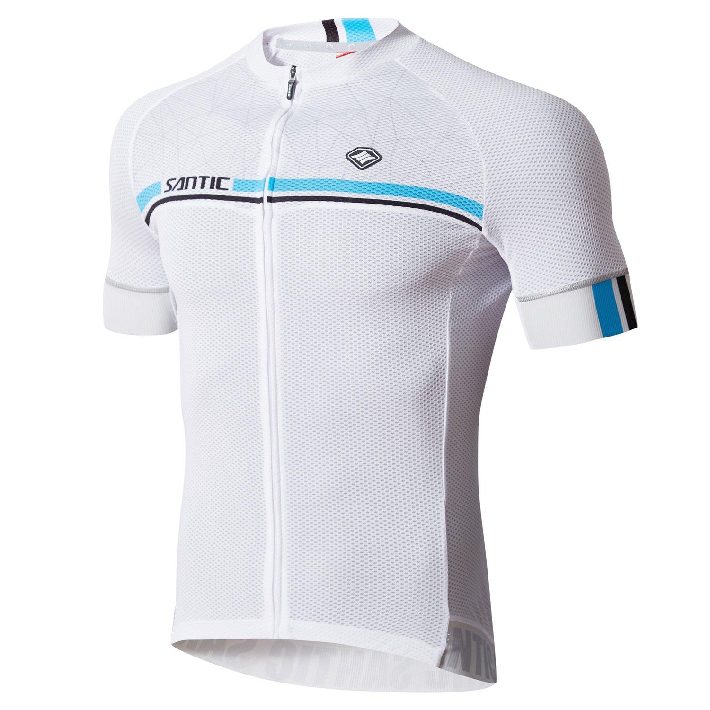 Santic Cycling Jerseys Men's Short Sleeve Bike Shirts
