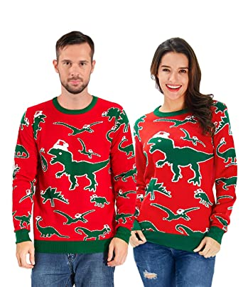 ee0533cd9c Uideazone Christmas Sweater Cardigan Ugly Women Girls Santa Vintage Knit  Xmas Sweater