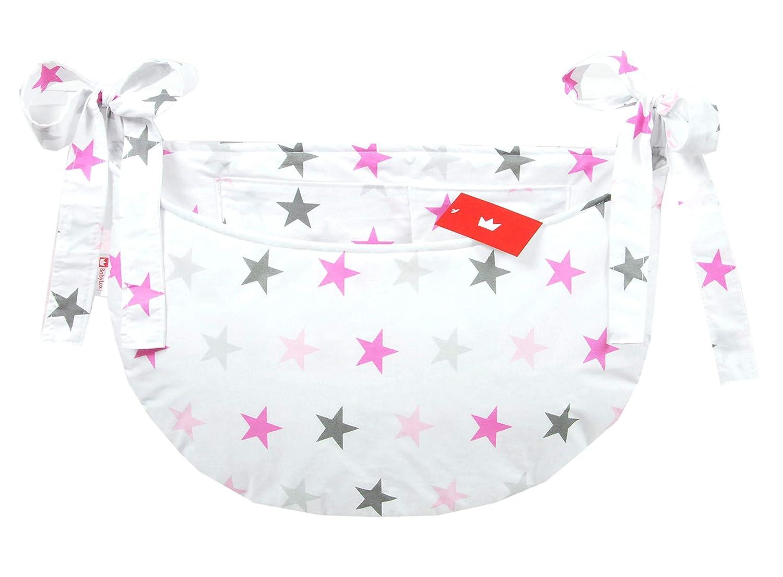 BABYLUX Babybetttasche Organizer BETTTASCHE Spielzeugtasche Tasche Babybett 106. Marokko Grau