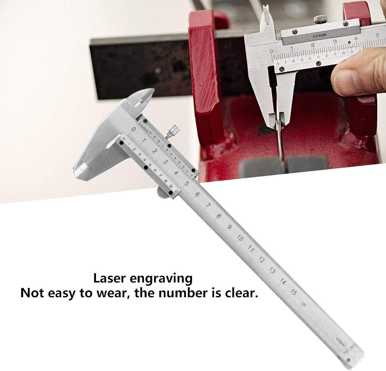 Calibro a corsoio di precisione 0,02 mm Strumento di misurazione nonio Calibro a corsoio in metallo Comodo per strumento di misurazione nonio per misurazioni archeologiche