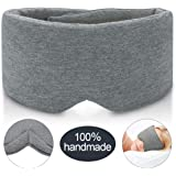 JEBBLAS 100% Hand-Made Cotton Sleep Massage Shading Super Soft and Comfortable Shading Eye Mask is Suitable for Adjustable Eye Mask Aircraft With Travel Bags