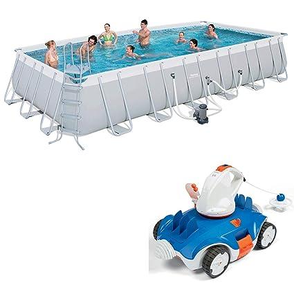 Amazon com: Bestway 24 x 12-Foot Pool Set + Aquatronix