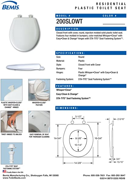 Bemis Toilet Seat Parts. amazon com bemis 7b200slowt 044 whisper close round closed front toilet seat  cerulean blue home improvement Excellent Bemis Toilet Seat Parts Best nickbarron co 100 Colors Images My Blog