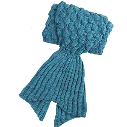 Regalos de San Valentín para ella, Jiaweixiang hecho a mano Crochet sirena cola bolsa de