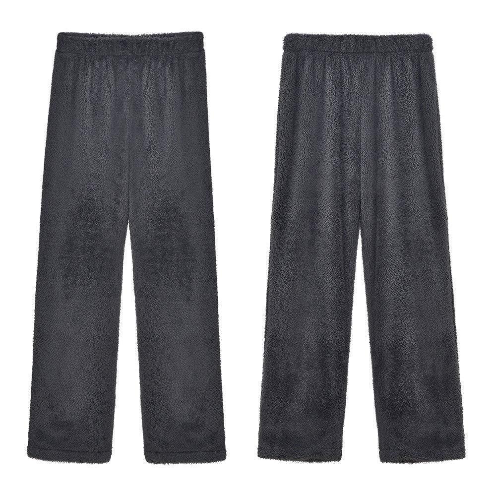 DANMEI 1PC Womens Knitted Casual Soft Sleep Lounge Pants Warm Plush Lounge Bottoms Sleepwear