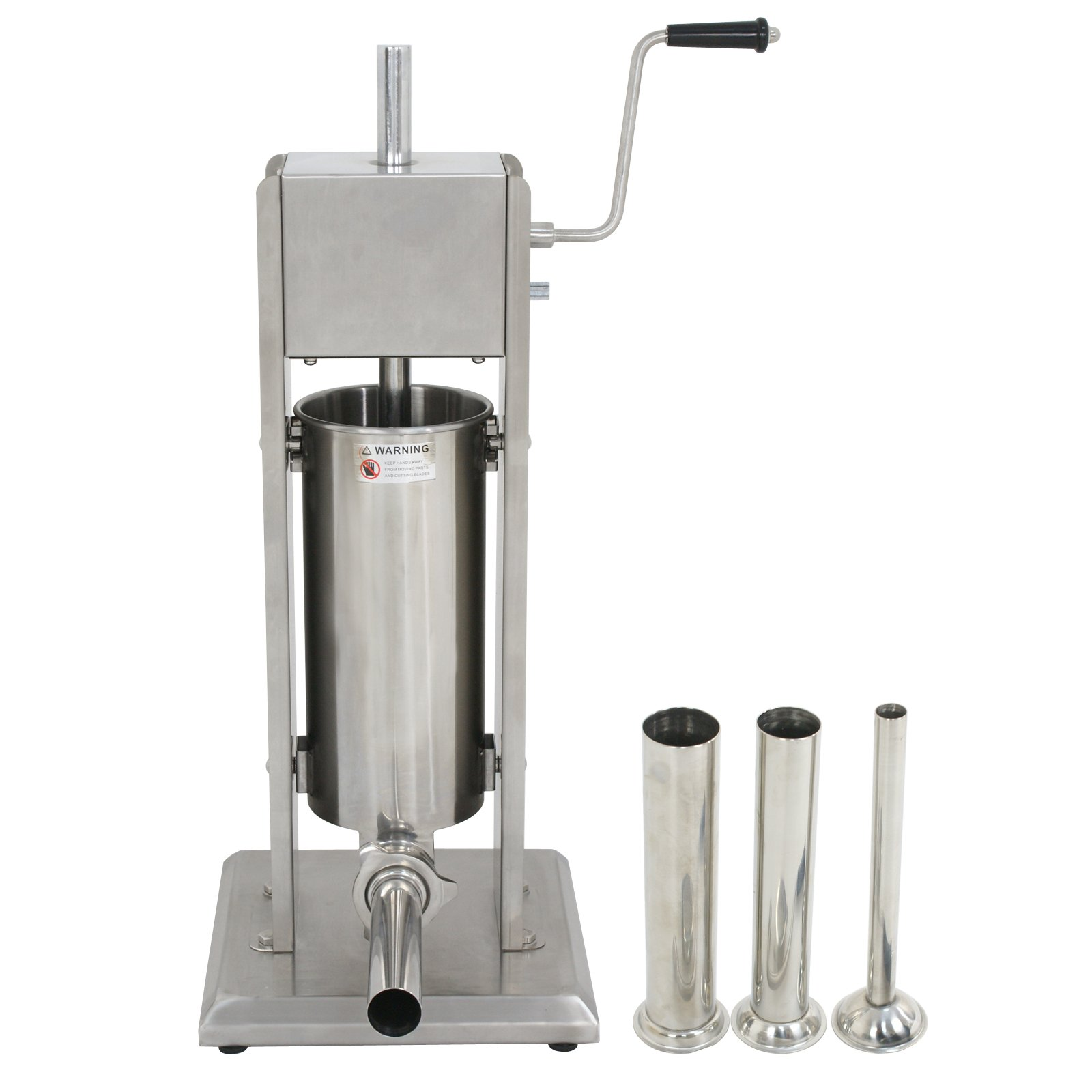 Super Deal 5L Vertical Commercial Sausage Stuffer 11LB Two Speed Stainless Steel Meat Mince Maker (Sausage Filler 5L)
