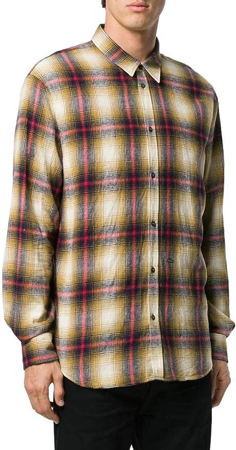 DSQUARED2 Camisa Franela De Cuadros S71DM0324S52230 Color Mostaza.: Amazon.es: Ropa y accesorios