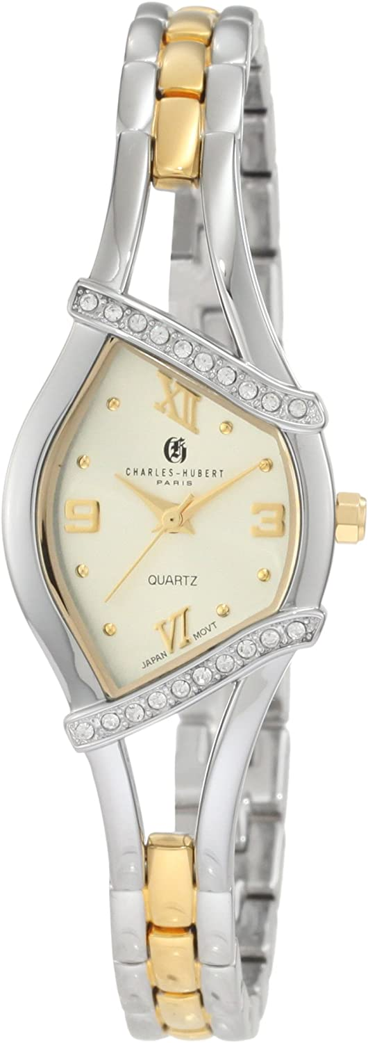 Charles-Hubert, Paris Women's 6806 Classic Collection Two-Tone Watch
