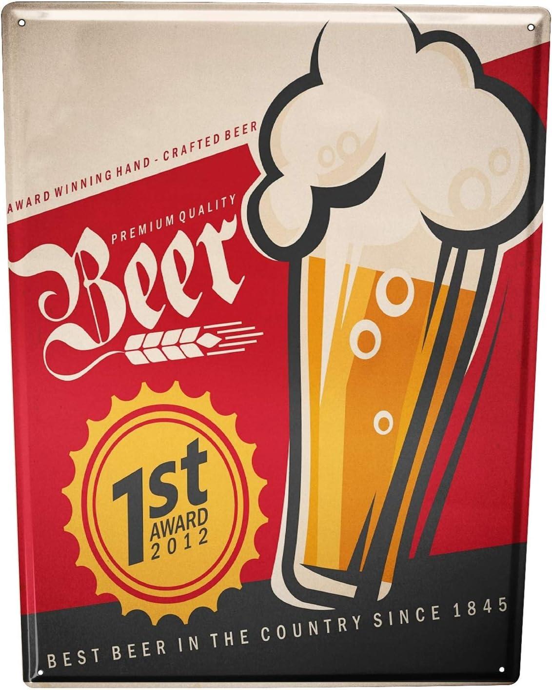 Tôle Bouclier Nostalgie alcool rétro bière
