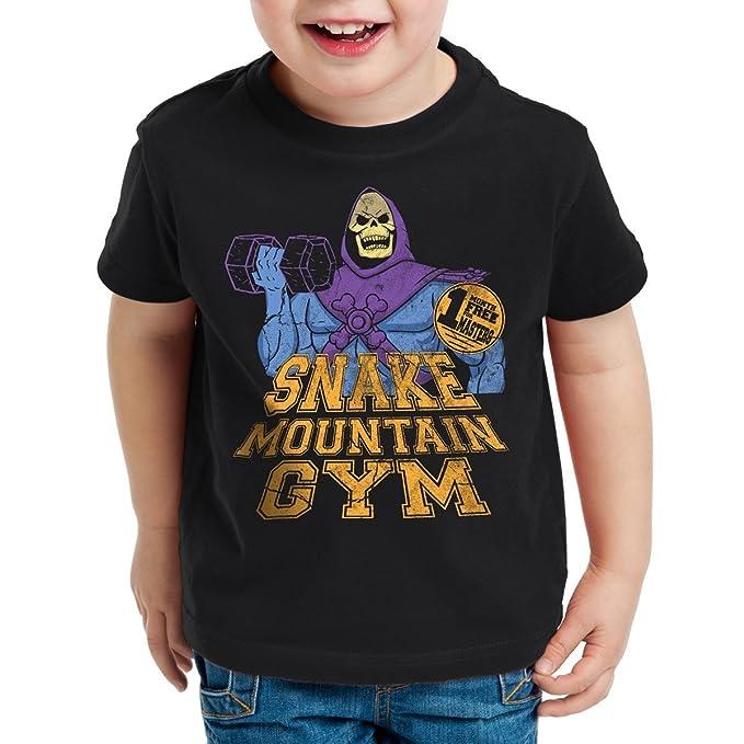 style3 Snake Mountain Gym Camiseta Para Niños T-Shirt: Amazon.es: Ropa y accesorios