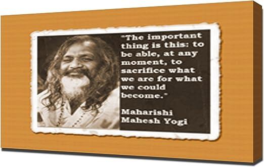 com maharishi mahesh yogi quotes canvas art print