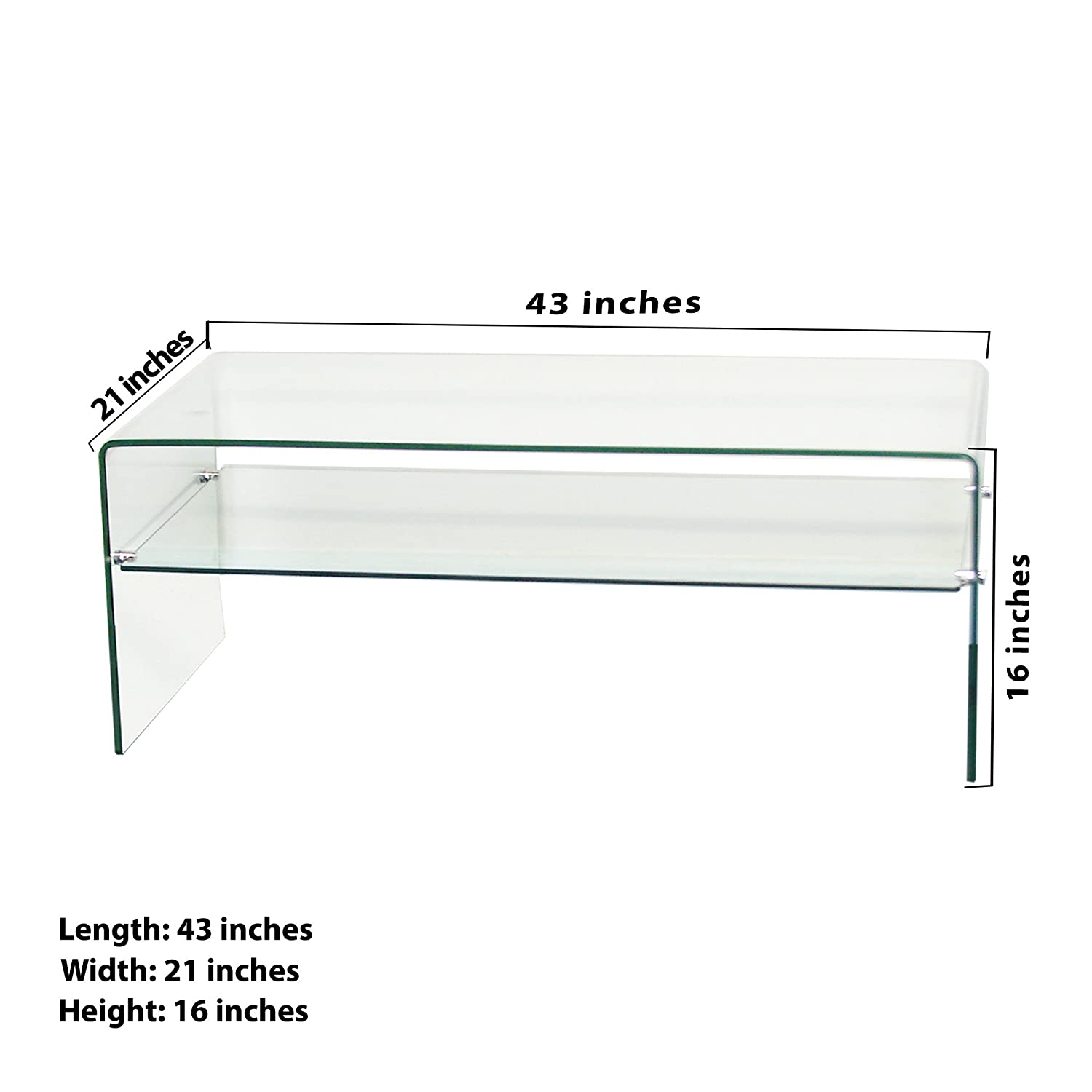 "Amazon Fab Glass and Mirror Clear Bent 3 8"" Thick Glass"