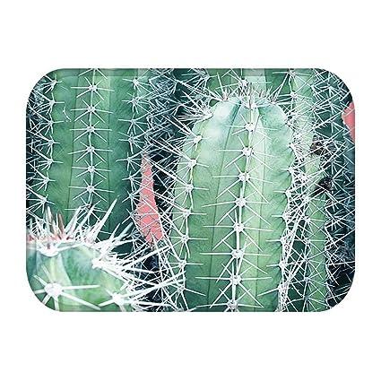 amazon com 1pcs 4060cm tropical cactus monstera pattern anti slipimage unavailable