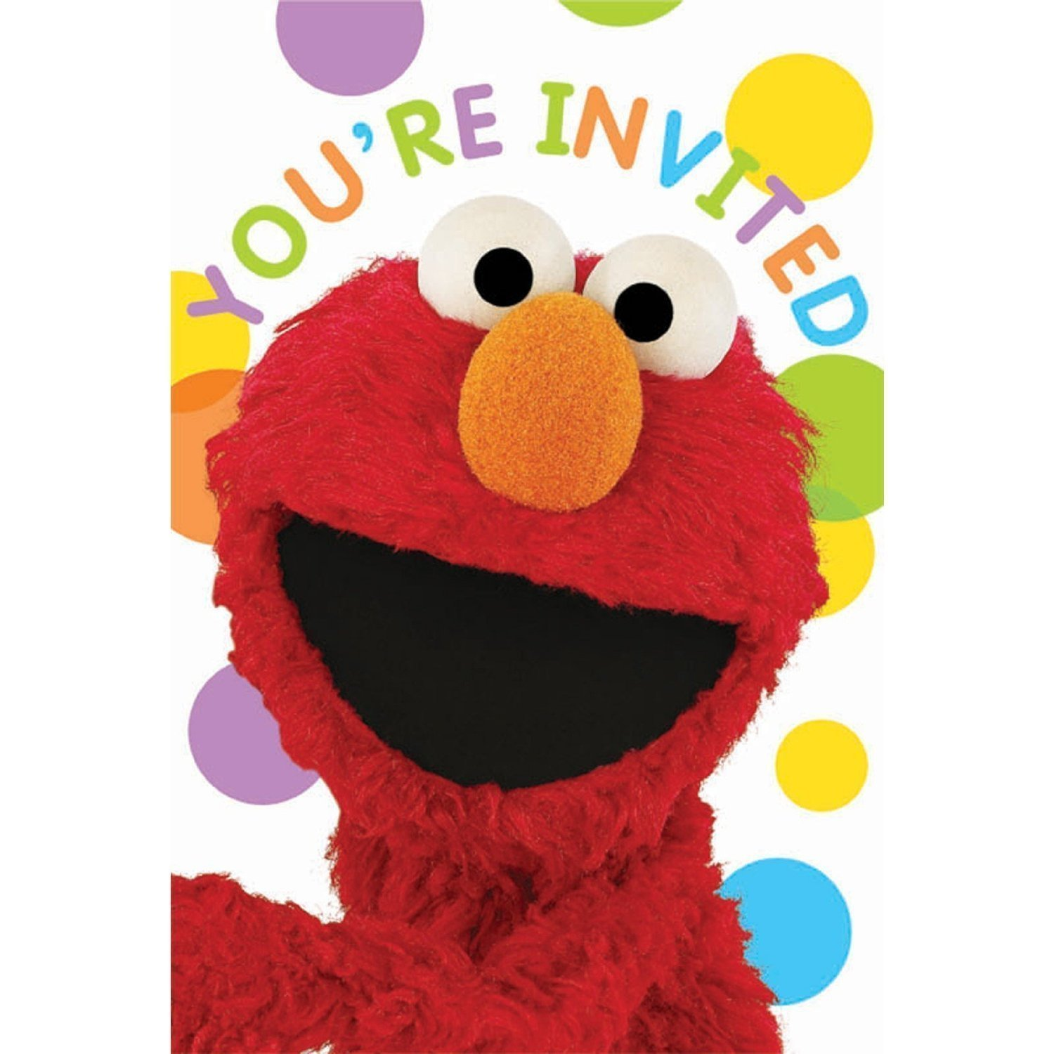 SESAME STREET set of 8 Party Invitation Cards and 8 Thank You Note Cards - You're Invited!