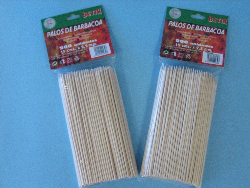 Amazon.com: Betik Long Pincho Sticks 15cm (200 units) by Betik: Paintings