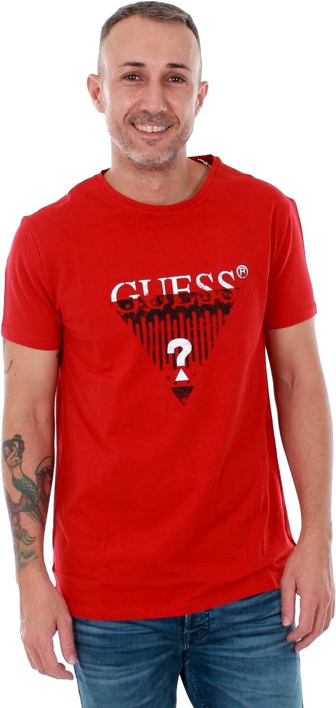 Guess Camiseta Hombre Rojo U82I126404Z - C512: Amazon.es: Ropa y accesorios