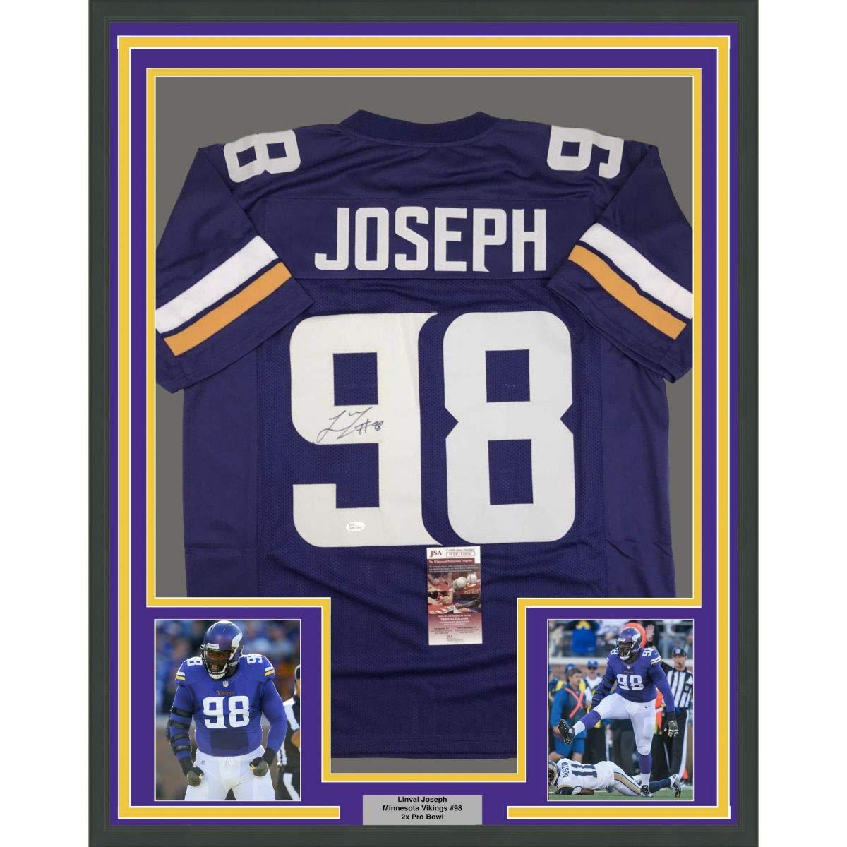 premium selection 54c83 bf943 Framed Autographed/Signed Linval Joseph 33x42 Minnesota ...