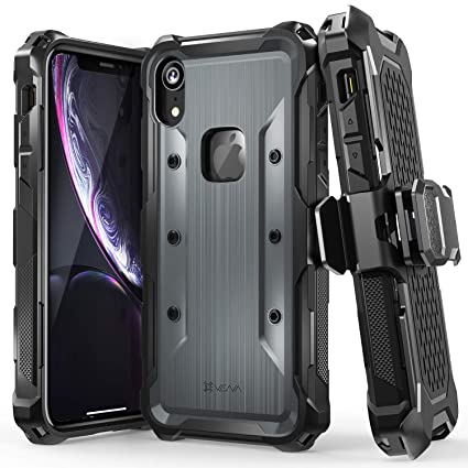 quality design b498e 8d64d Vena (vArmor) iPhone XR Holster Case, Rugged Military Grade Heavy Duty Case  with Belt Clip Swivel Holster and Kickstand, Compatible with iPhone XR ...