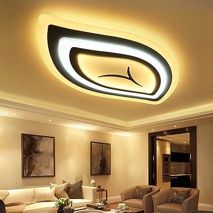 Amazon.com: MKKM Leaves Led Living Room Lights Modern Simple Ceiling ...