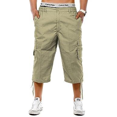 69dabb430f onpointlook Mens Big Size Shorts 3/4 Combat Cargo Casual Pants Elasticated  Waist Pockets Plus Size M XL 2XL 3XL 4XL 5XL 6XL: Amazon.co.uk: Clothing