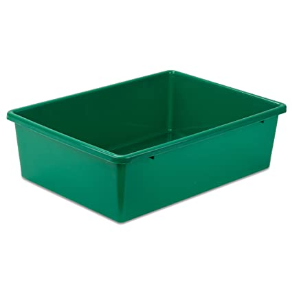 Superieur Honey Can Do PRT SRT1602 LGGRN Plastic Storage Bin, Large,