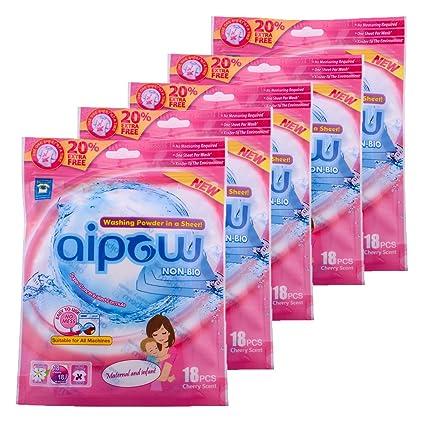 aipow comodidad de viaje portátil tipo de limpieza hoja de polvo de lavandería detergente de Sosa