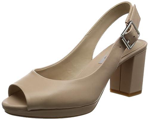 6de4b9df24f0 Clarks Women s Kelda Spring Wedge Heels Sandals  Amazon.co.uk  Shoes ...