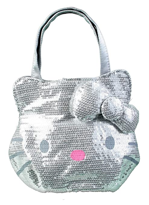 d2a33abead26 Image Unavailable. Image not available for. Color  Sanrio Hello Kitty  Silver sequin handbag purse tote