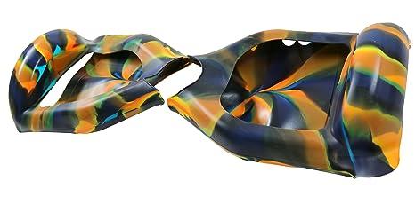 Cool & Fun – Carcasa de silicona para hoverboard segway de 2 ruedas y 6,5 pulgadas, anti-arañazos, impermeable, protección completa (color camuflaje ...