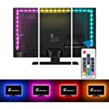 Vansky TV Backlight Kit Bias Lighting for TV,LED Strip Lights USB Powered LED Light Strip RF Remote 30-55 inch TV,Desktop PC - Reduce Eye Strain Increase Image Clarity