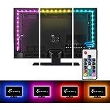 LED Strip Lights,Vansky Bias Lighting Strip for TV USB Powered for 40-60 Inch Flat Screen TV, Desktop PC - 16 Multi…