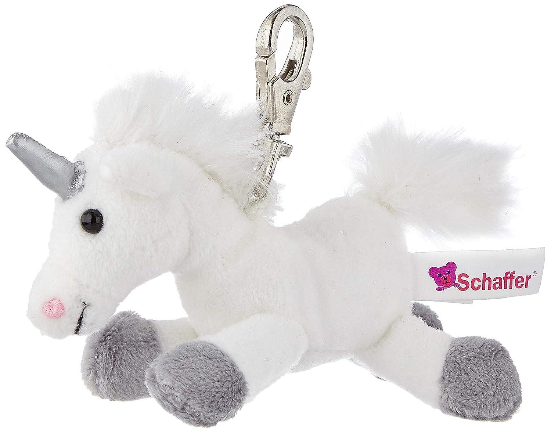 Schaffer Knuddel Mich 0156 Plüsch Schlüsselanhänger Einhorn Weiß Grau 12 Cm Baby