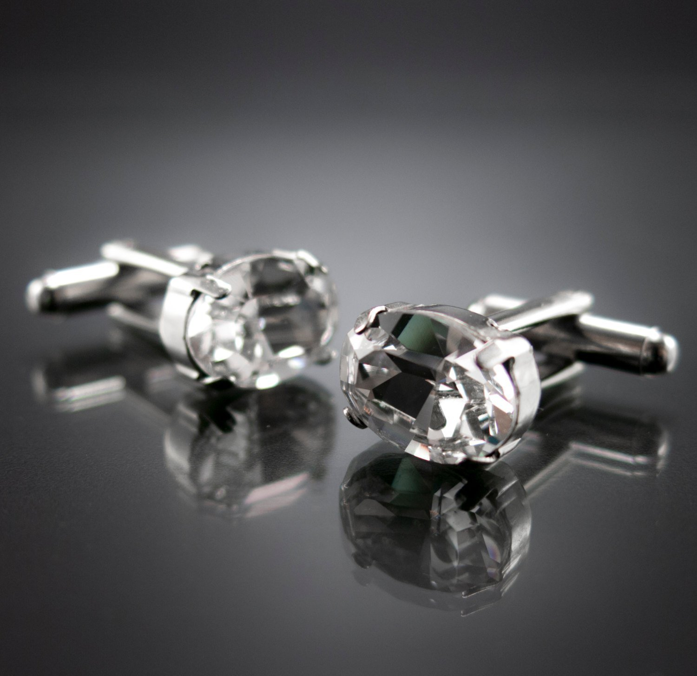 Men/'s Jewelry Men/'s Cufflinks Grooms Cufflinks Men/'s Accessories Men/'s Gift Crystals Cufflinks Cufflinks For Men Groomsman CF1