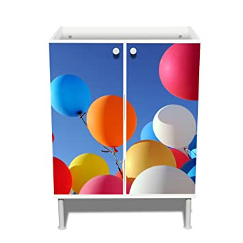 Modern Under-Sink Cabinet with Balloons Motif: Amazon.co.uk: Kitchen ...