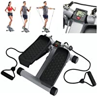 Exercise Stepper With Resistance Bands - Aerobic Fitness Rope Workout Cord Work your Arms & Legs