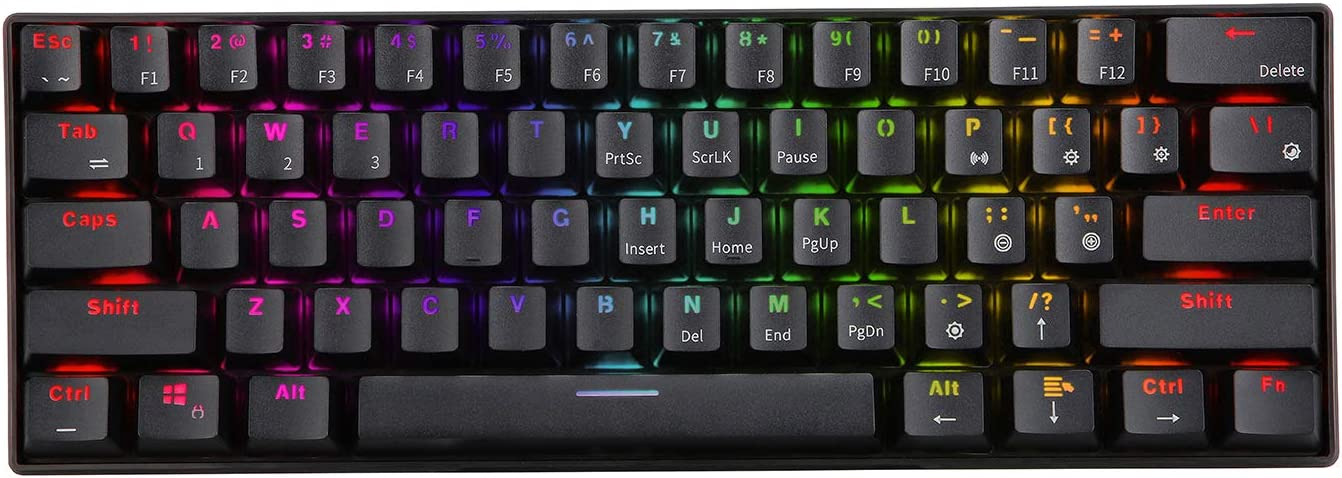Teclado Mecanico,Royal Kludge Rk61 60% 61kBrown Switch.negro