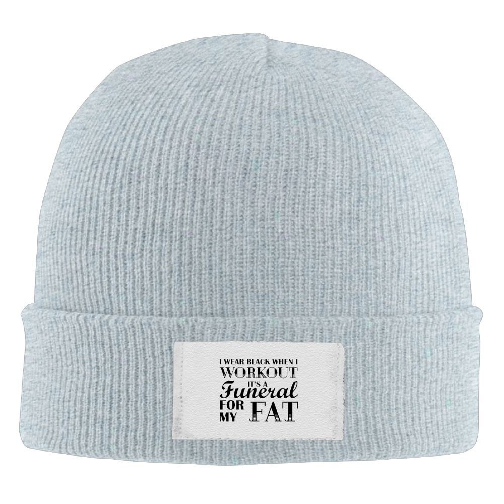 I Wear Black When I Workout Its Like A Funeral For My Fat New Hot Winter  Hats Knitted Twist Cap Thick Beanie Hat Ash at Amazon Men s Clothing store  0ea5ad74f7e