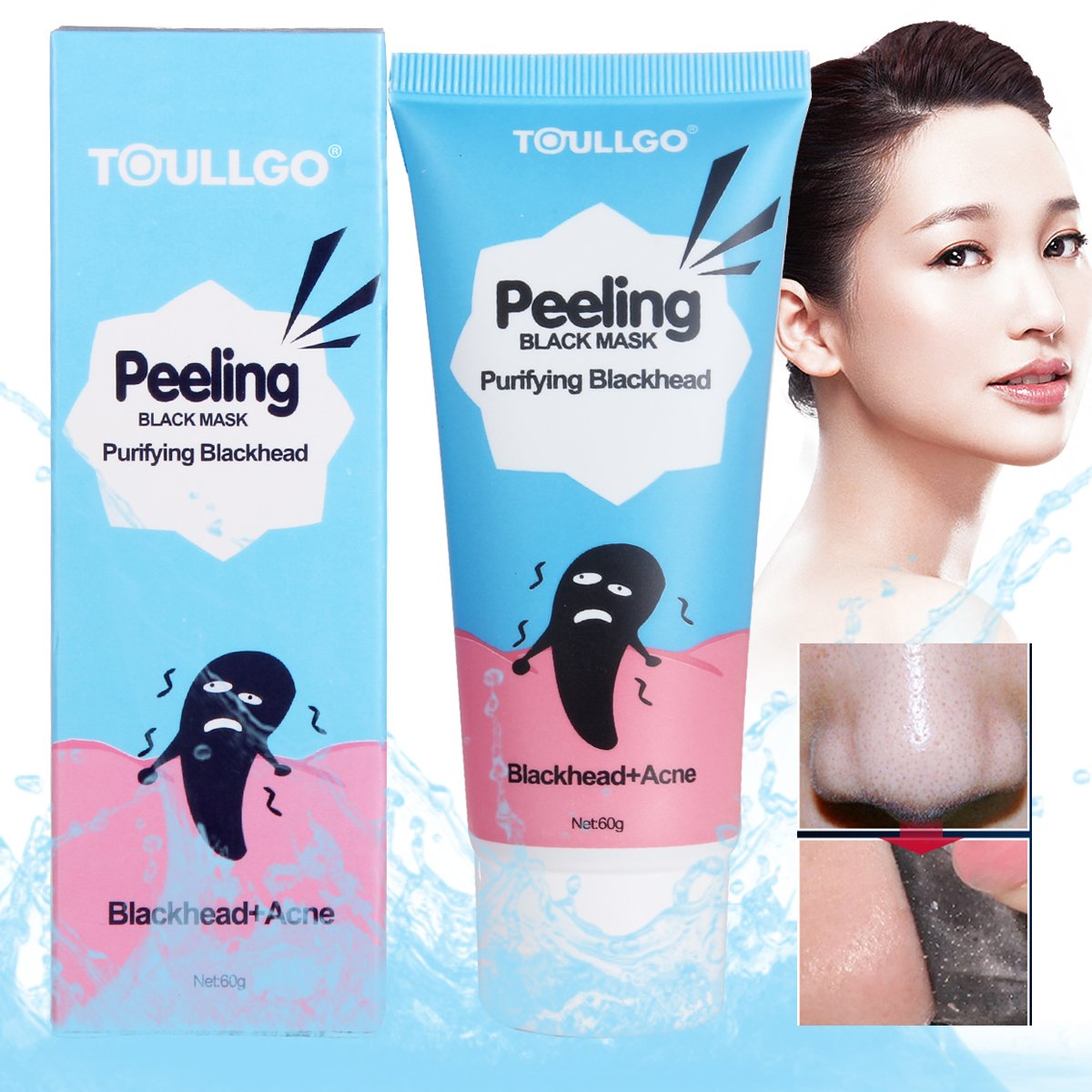 Charcoal peel off mask, Black Mask, Black purifying peel off mask, Remove Blackheads