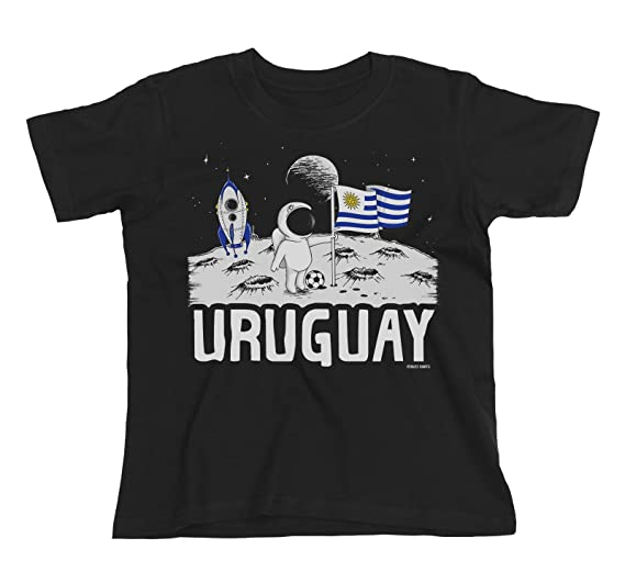 Buzz Shirts Kids Uruguay Camiseta Moon Flag Copa Mundial 2018 Fútbol Chicos Chicas Childrens: Amazon.es: Ropa y accesorios