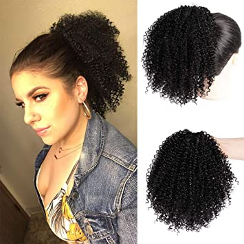 Amazon Com Stamped Glorious Afro Puff Drawstring Ponytail Extension