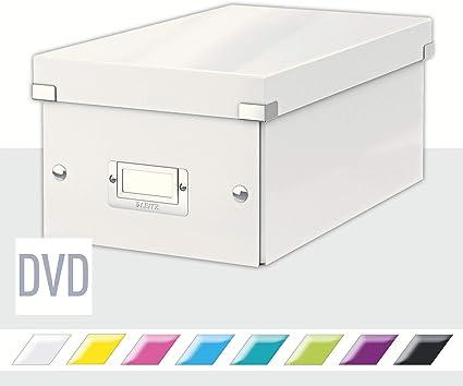 Leitz Caja para Guardar DVDs, Blanco, Gama Click & Store, 60420001 ...