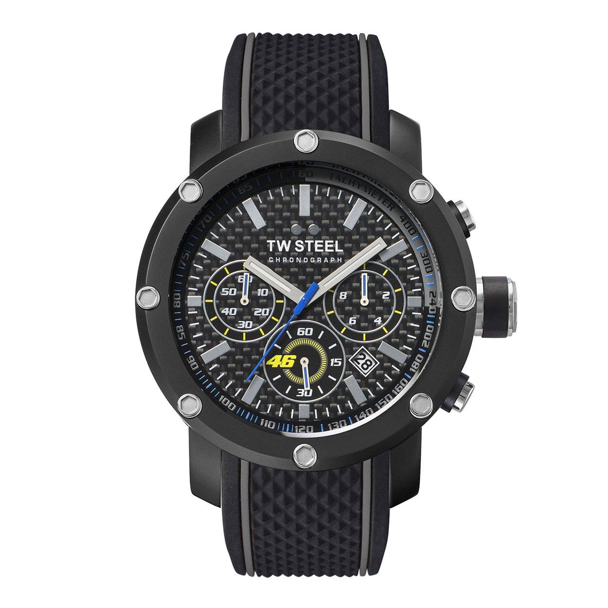 fcb5705b939 TW Steel Men s Chronograph Quartz Watch with Silicone Strap TW937   Amazon.co.uk  Watches