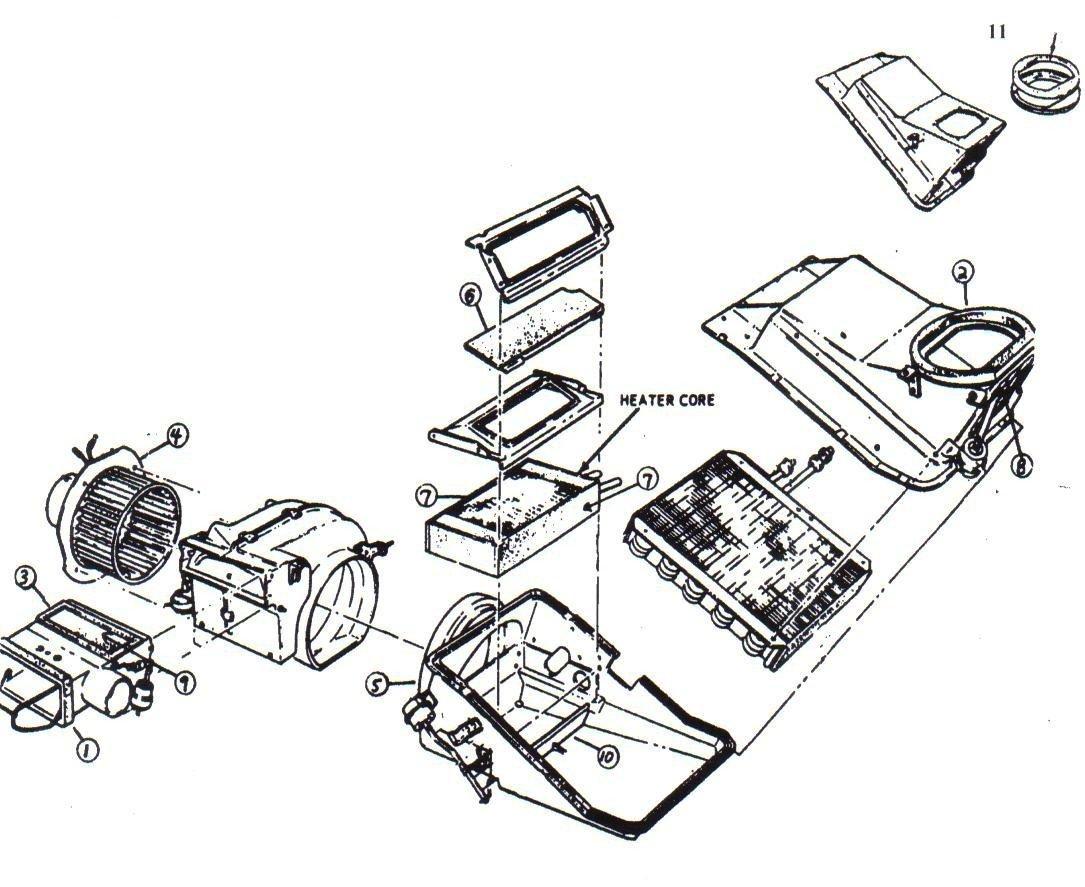 Mustang Heater Box Seal Kit with A/C 1971 - 1973 Daniel Carpenter Mustang Reproductions